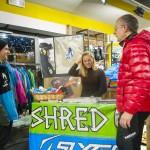 Lara Gut con i partner tecnici Shred e Slytech